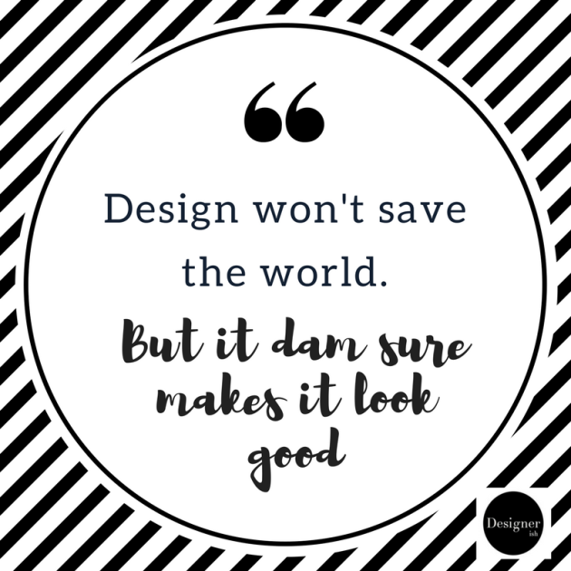 design wont save the world